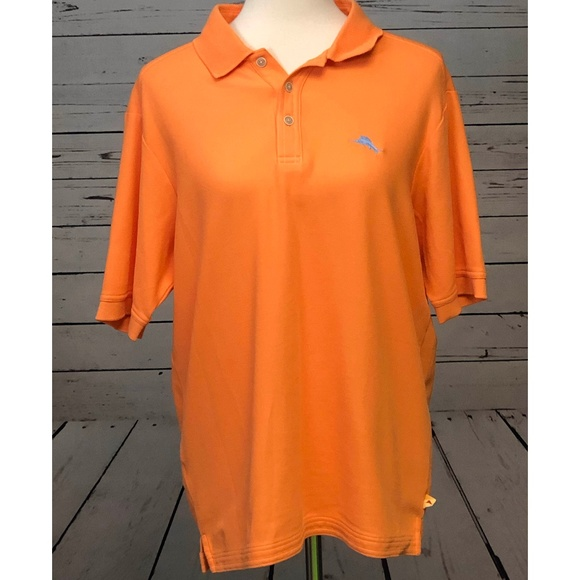 Tommy Bahama Other - Tommy Bahama Small Supima Polo Shirt Orange Marlin